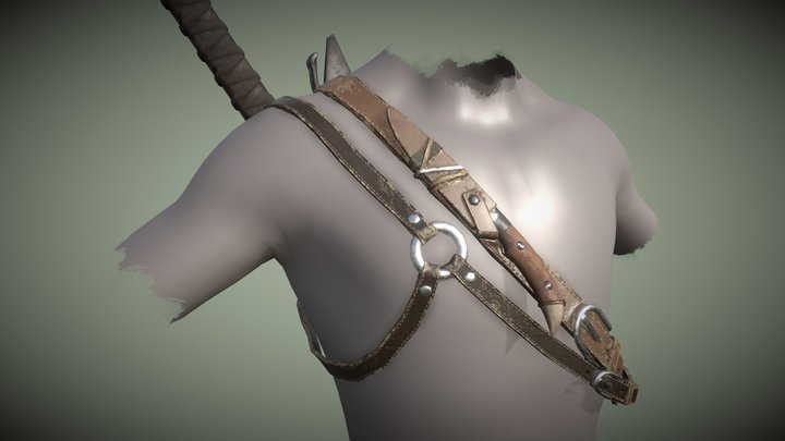 Sword Back Harness - The Witcher 3D Model
