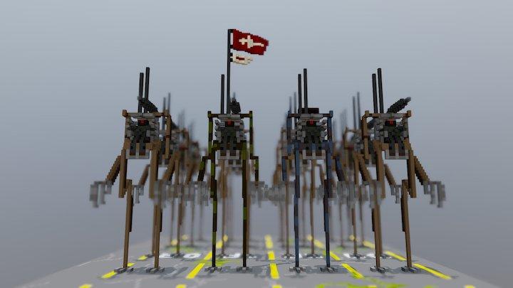 Meka Army 1.0. 3D Model