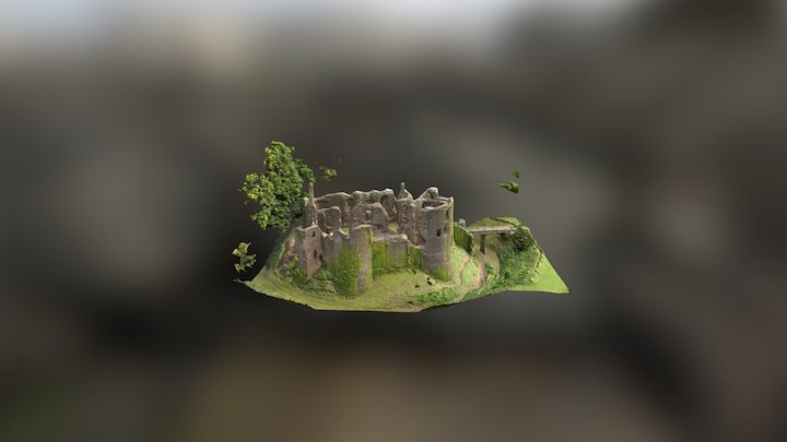 Grosmont Castle 3D Model