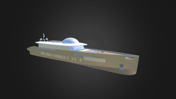 Yacht 50mt exterior 3D Model