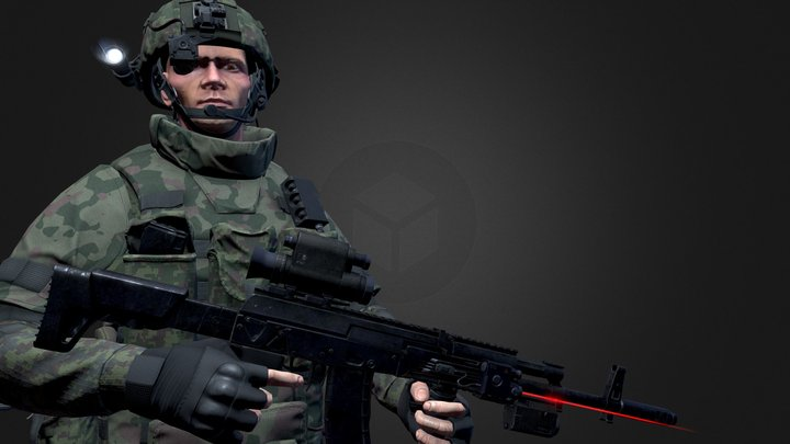 Russian Army Soldier 3D Model