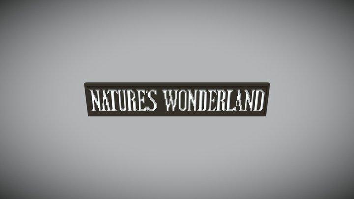 Natures Wonderland Disneyland Ride Sign 3D Model