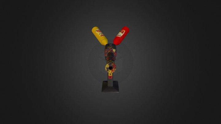 Condiment Gun 3D Model