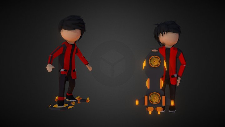 Private Hoverboard 3D Model
