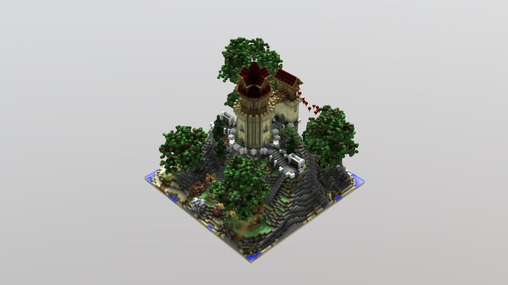 Minecraft Medieval Tower 3D Model