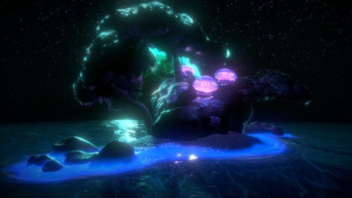 Extraterrestrial Island 3D Model