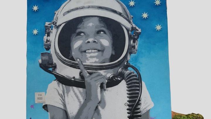 Kid dreaming of Stars - Mural - Padova 3D Model
