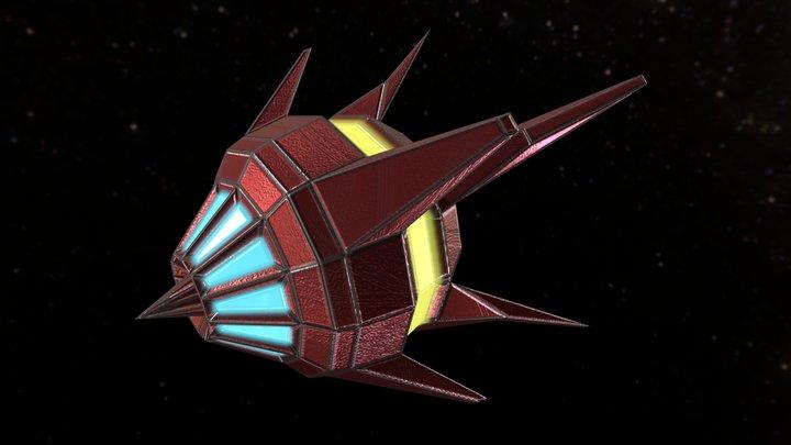 Arcade SpaceShip 05 3D Model