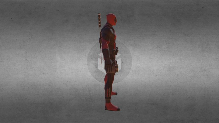 Marvel character - Deadpool 3D Model