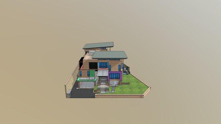 Modern House Test 3D Model