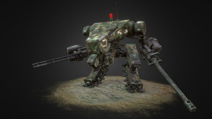 JP Mech - Woodland 3D Model