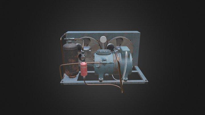 Old cooling unit 3D Model