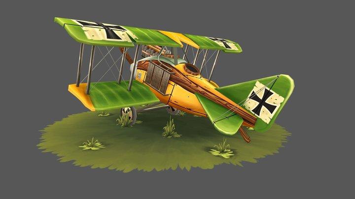 WW1 Stylized Airplane 3D Model