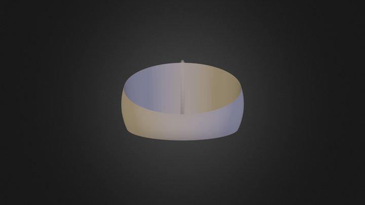 טבעת פשוטה נוי חדד עם שינוי 3D Model