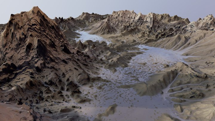 Death Valley - Terrain 3D Model