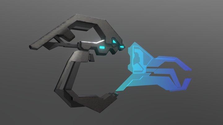 Halo Legends Origins Forerunner Weapon 3D Model