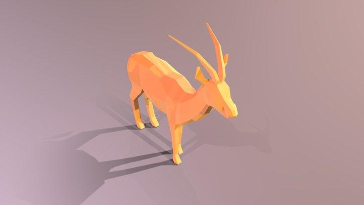 low_poly_gazelle 3D Model