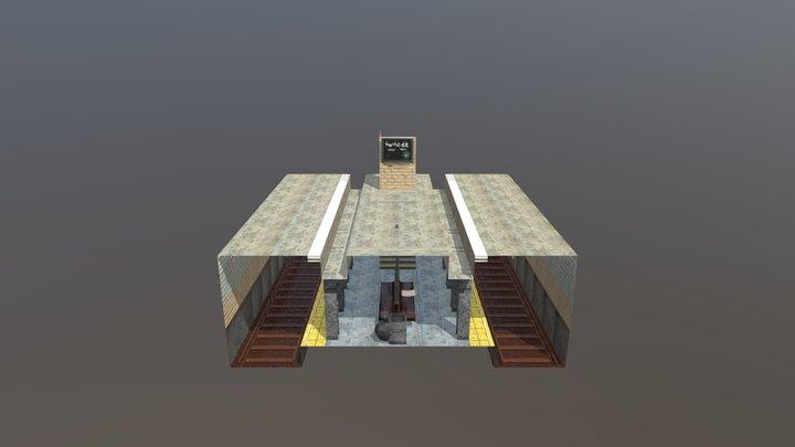 Underground Train Station 3D Model