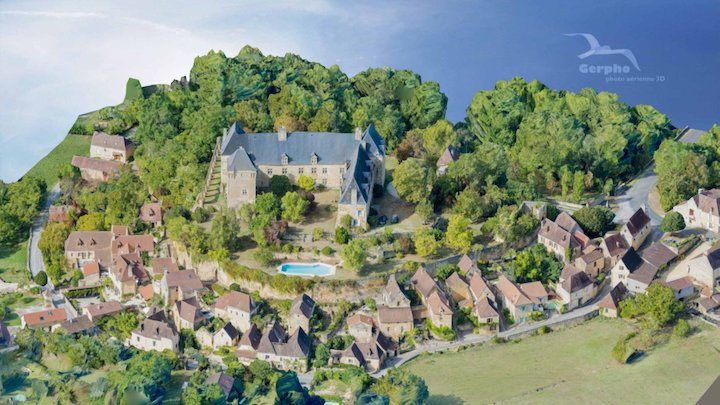 Berbiguieres : Village and Chateau 3D Model