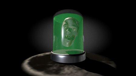 Zombie Head Storage 3D Model