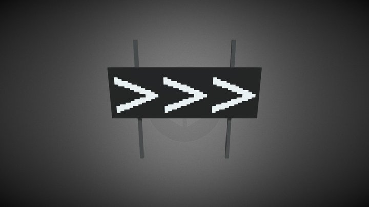 Voxel sign wall 3D Model