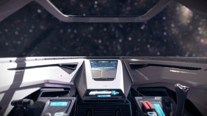 Sci Fi Cockpit 3 Futuristic Fighter 3D Model