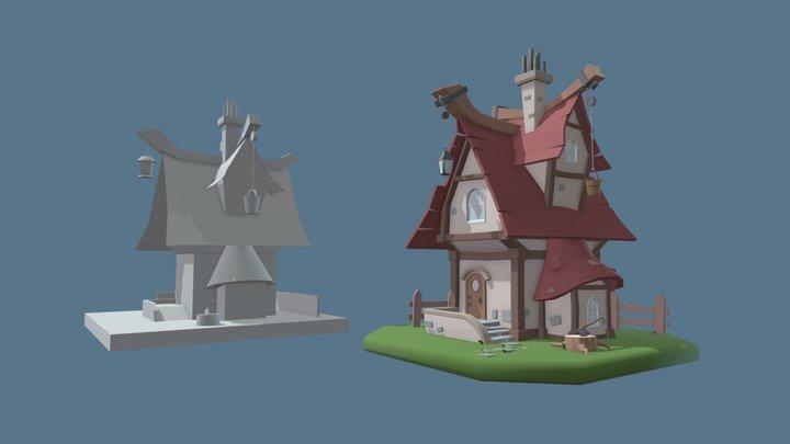 Blocking vs detailization 2 3D Model