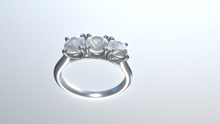 Test Three Diamond Ring 3D Model