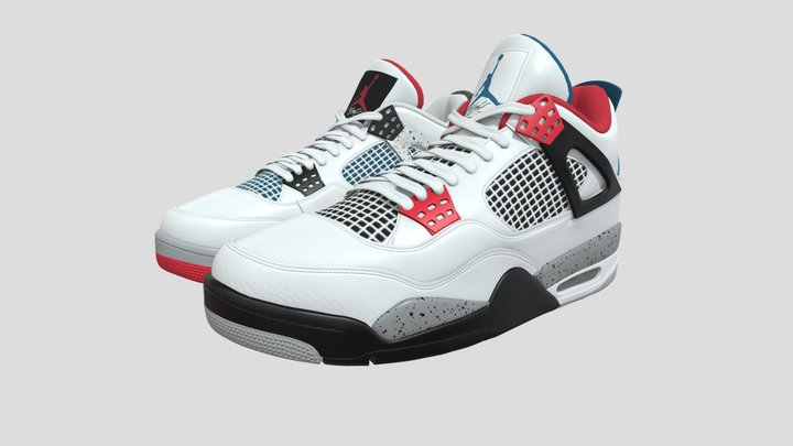 Air Jordan 4 Retro What The 3D Model