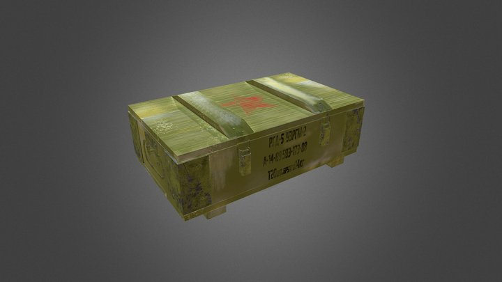 Ammobox lowpoly 3D Model