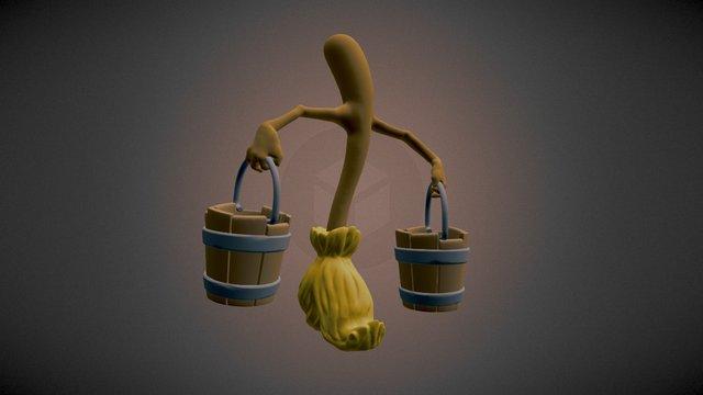 [SGP] Disney's Evil Broomstick 3D Model