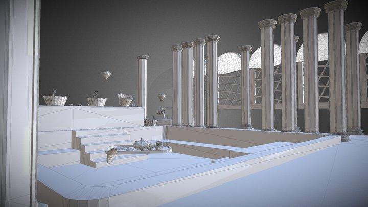 Seaside Sauna (Environmental Mesh / WF) 3D Model