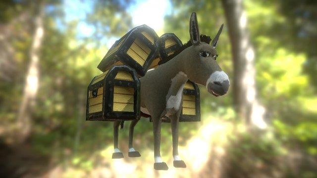 Treasure Burro 3D Model
