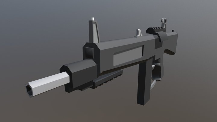 Low Poly AA-12 3D Model