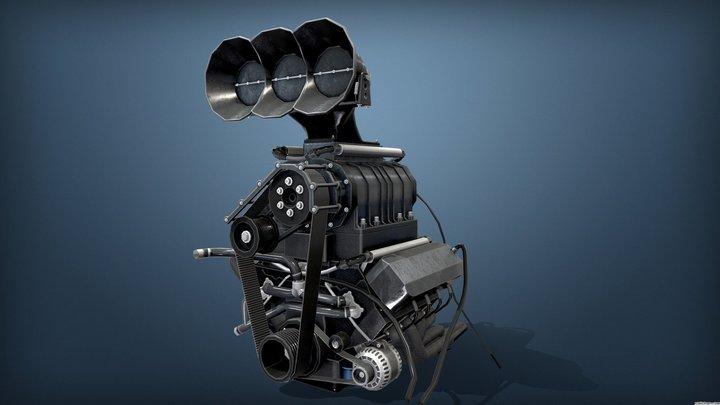 Burnout Masters Engine 3D Model