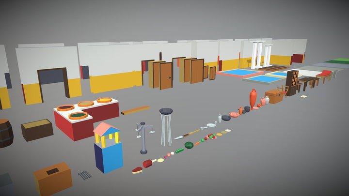 Rome Modular Kit (Assets/Models) 3D Model