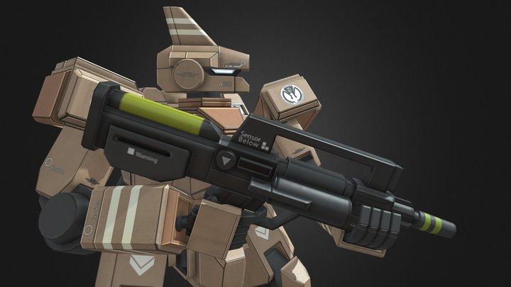 Federation Spec Ops Marauder Normal Type 3D Model