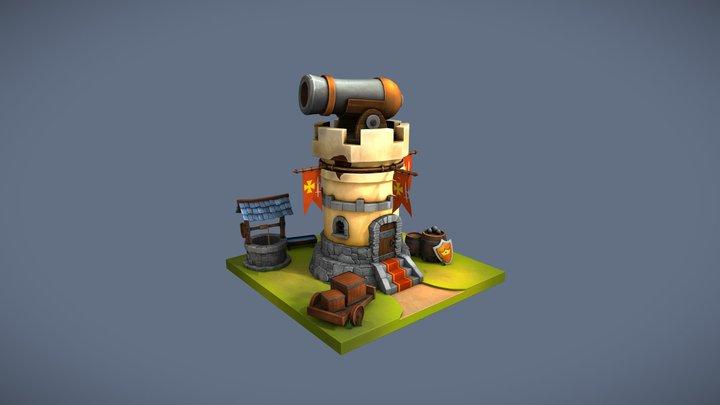 Mini tower 3D Model