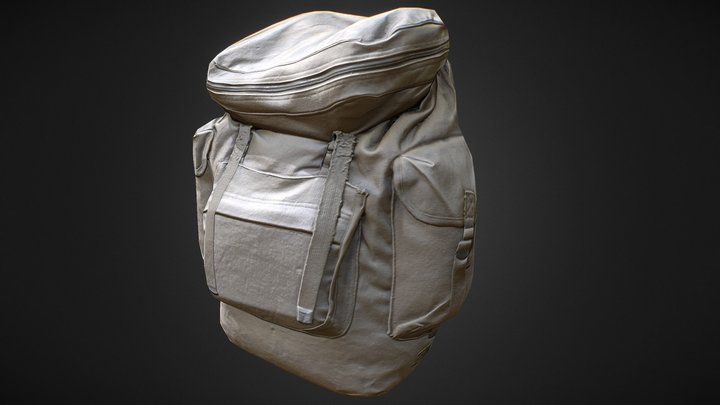 Military Tactical Backpack 3D Model