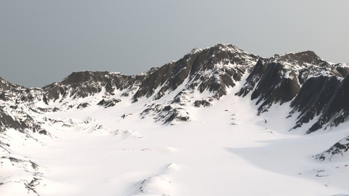 Snowy Mountain - Terrain 3D Model