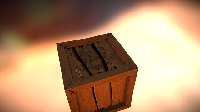 Crate Finished 3D Model