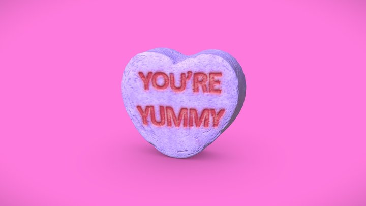 Heart Candy - You're Yummy 3D Model