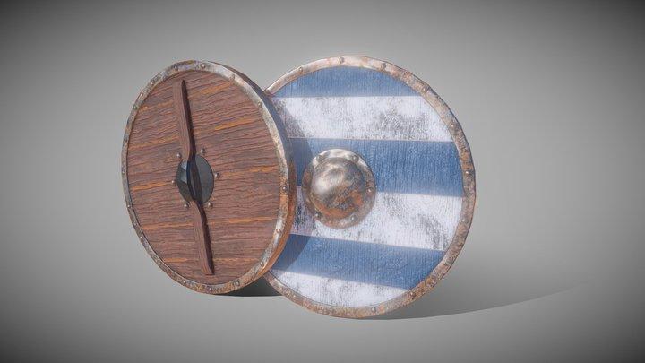 Medieval Viking Shield 3D Model