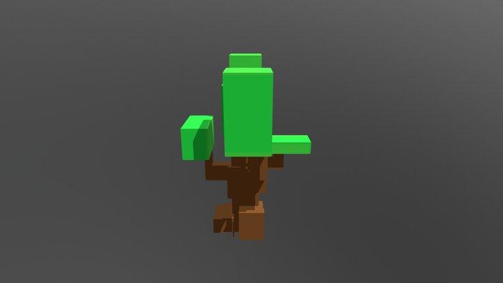 Simple Voxel Tree 3D Model