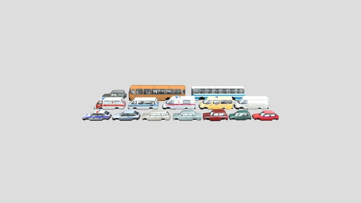 Papers Soviet Cars 3D Model