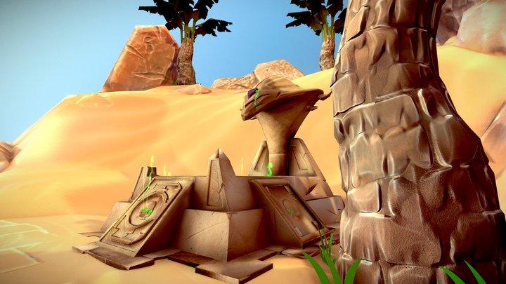 Altar in the desert 3D Model