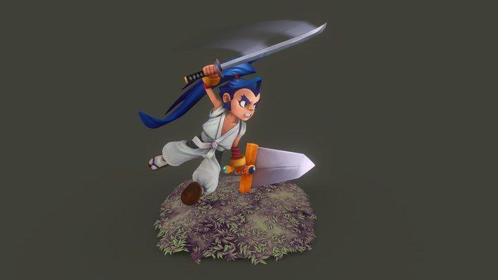 Brave Fencer Musashi fanart 3D Model