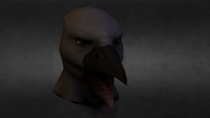 tengu_crow_head 3D Model