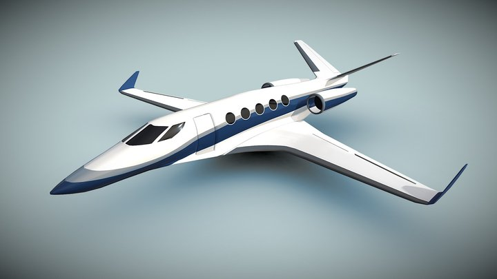 Space Eagle private jet concept 3D Model