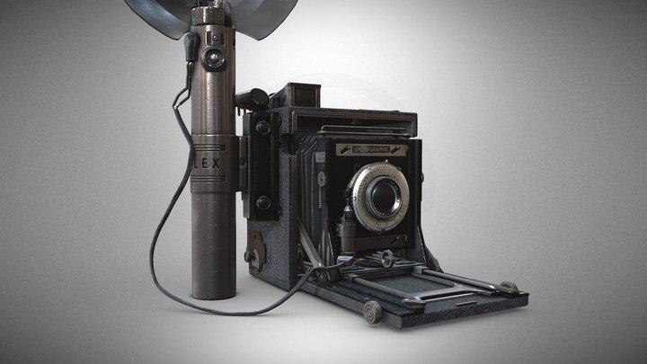 Speed Graphic Camera 3D Model